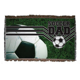 A soccer dad themed blanket