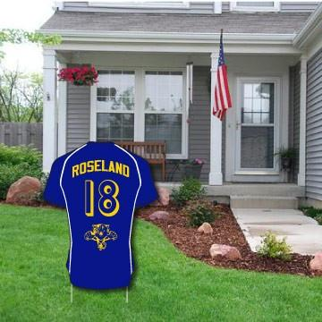 Soccer Jersey Cutout Yard Signs One Sided