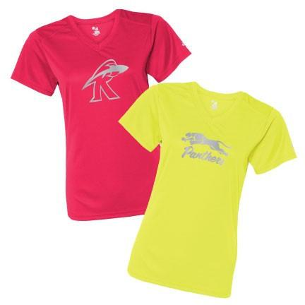 Custom Sport SafetyRunner Reflective V-Neck Performance Shirt