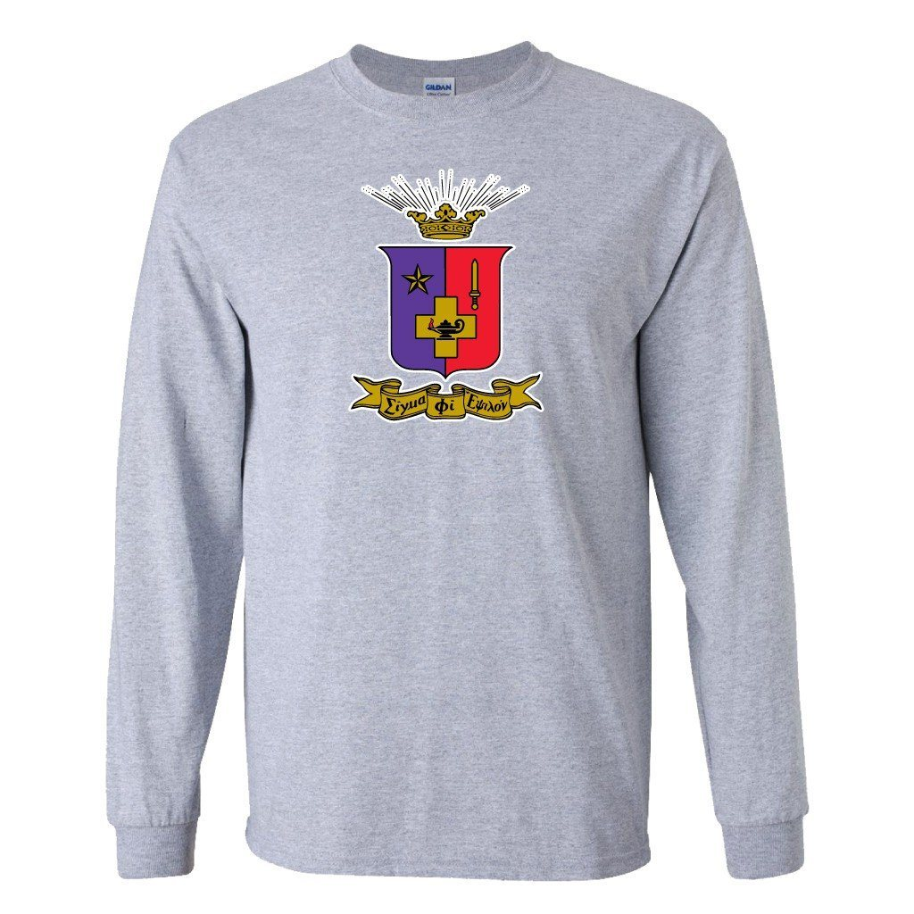 Sigma Phi Epsilon Long Sleeve T-shirt Coat of Arms - FREE SHIPPING