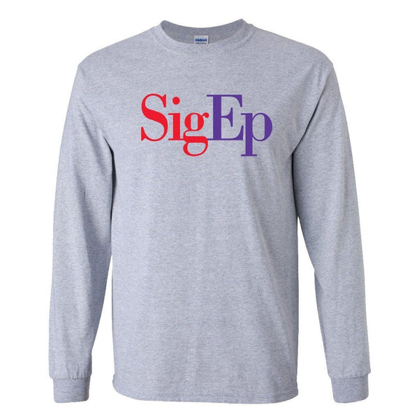 Sigma Phi Epsilon Long Sleeve T-shirt SigEp Design - White & Sport