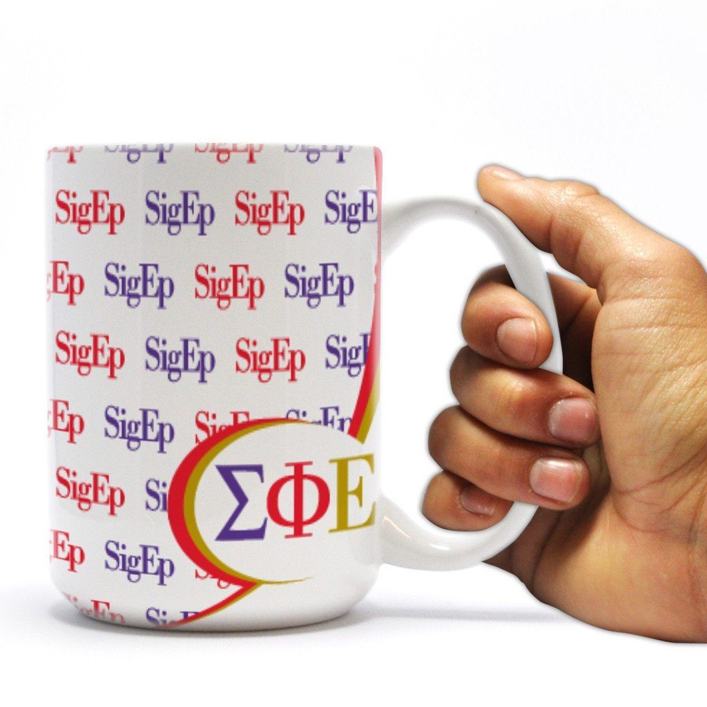 "Sigma Phi Epsilon 15oz Coffee Mug "" SigEp Line Design"