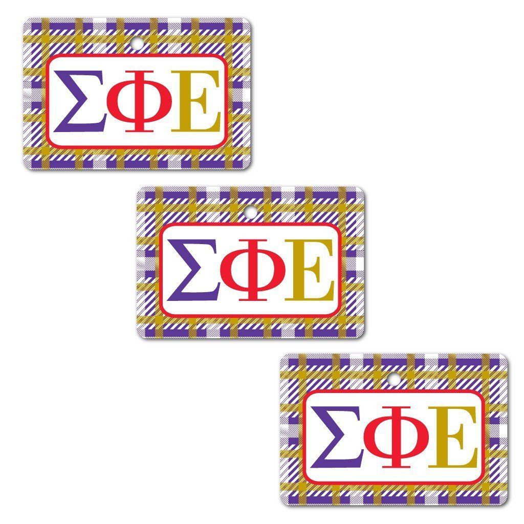 Sigma Phi Epsilon Ornament - Set of 3 Rectangle Shapes - FREE SHIPPING
