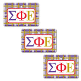 Sigma Phi Epsilon Ornament - Set of 3 Rectangle Shapes