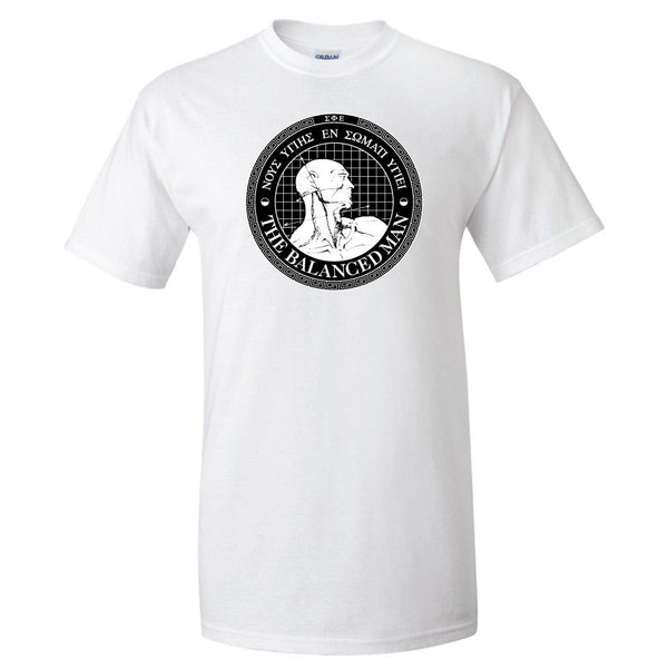 "Sigma Phi Epsilon Standard T-Shirt - Balanced Man Design "" White &"
