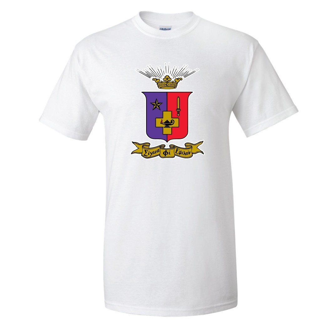 Sigma Phi Epsilon Standard T-Shirt - Coat of Arms - FREE SHIPPING