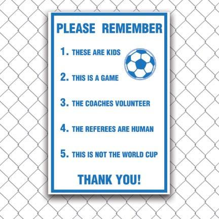 Soccer Spectator Sportsmanship Yard Signs - 2-Pack Yard Signs - FREE SHIPPING
