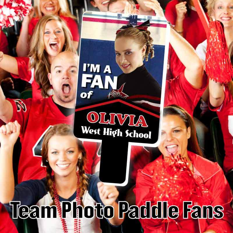 Team Photo Paddle Fan