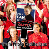 Team Photo Paddle Fan - Customized