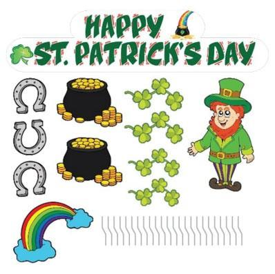 St. Patrick's Day Yard Decorations - Stand Up Set - FREE SHIPPING