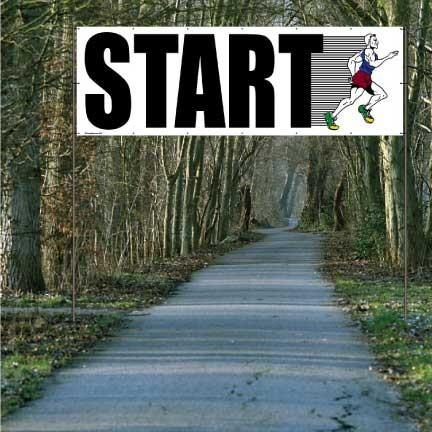 Start and Finish with Runners - Full Color Vinyl Banner Set of 2