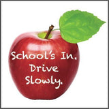 "22"" Corrugated Plastic Sign - School's In Drive Slowly"