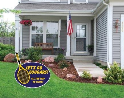 "Stick with Oval Yard Sign - 22x22"" Corrugated Plastic"