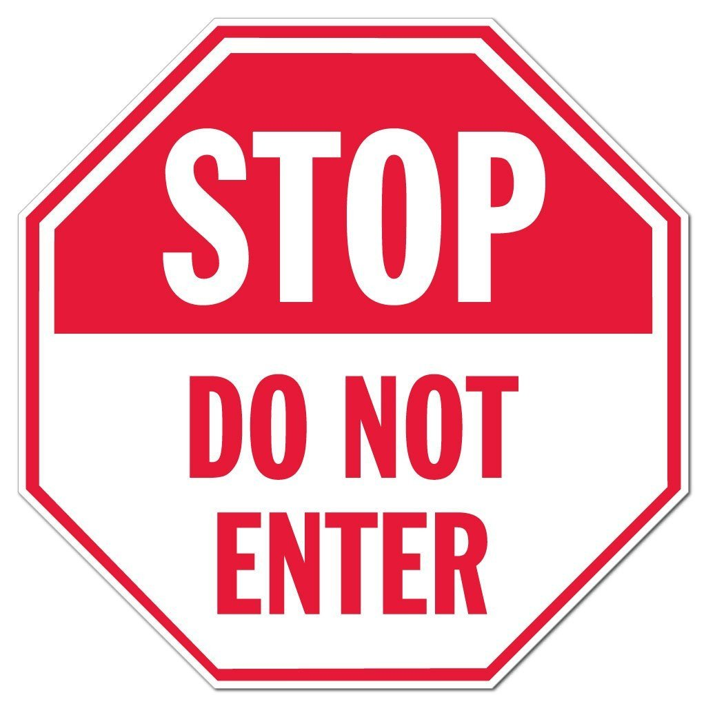 stop do not enter octagon sign or sticker design 4