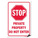 Stop: Private Property Sign or Sticker - #1