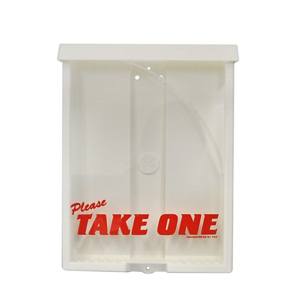 "Sturdy Brochure Box with Red ""Take One"" Message"