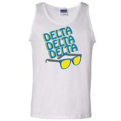 Tri Delta Men's Tank Tops - Sunglasses Design