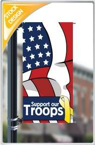 "18""x36"" Support Our Troops Pole Banner FREE SHIPPING"