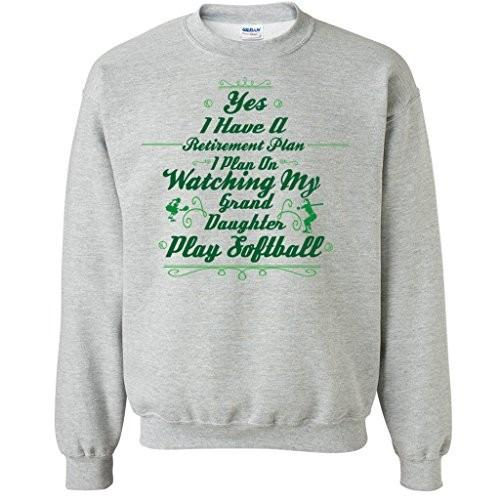 Retirement Plan Watch Grand Daughter Play Softball Crewneck - FREE SHIPPING