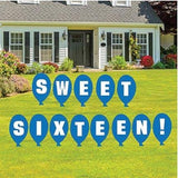 Signs that say sweet sixteen