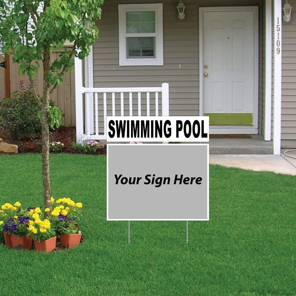 Swimming Pool Real Estate Yard Sign Rider Set - FREE SHIPPING