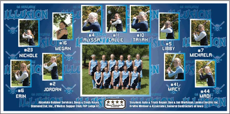 Team Banner - Custom Individual Photos and Sponsor Designs