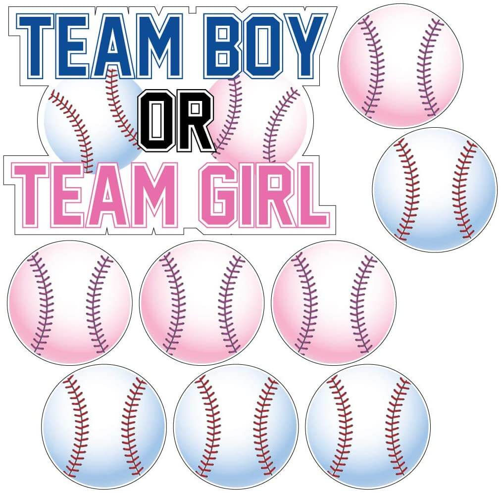 team boy or team girl baseball theme yard signs
