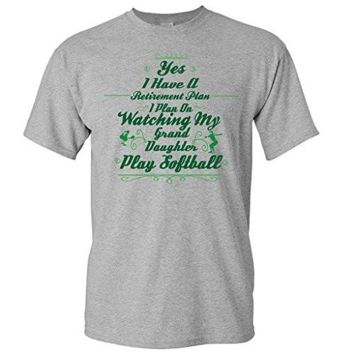 Retirement Plan Watch Grand Daughter Play Softball Short Sleeve Tshirt - FREE SHIPPING