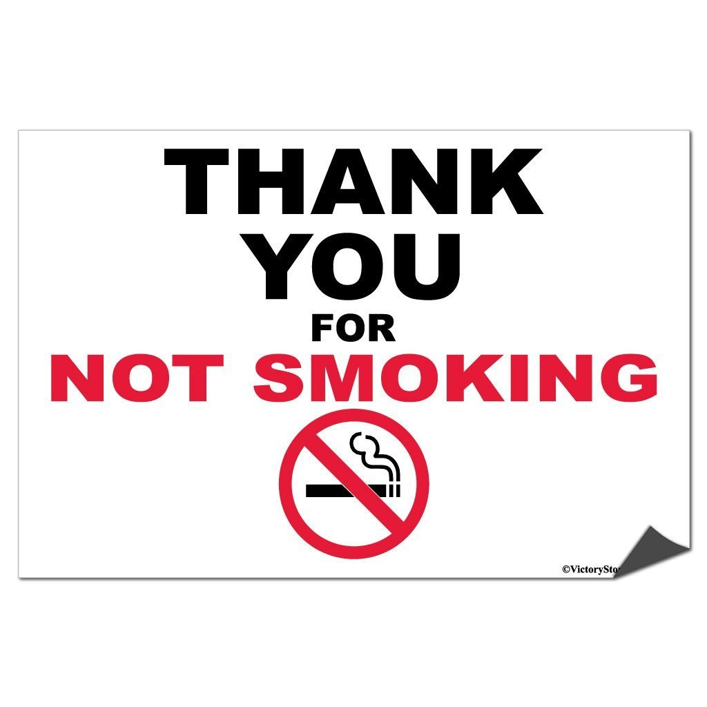 Thank You For Not Smoking Sign or Sticker - #2