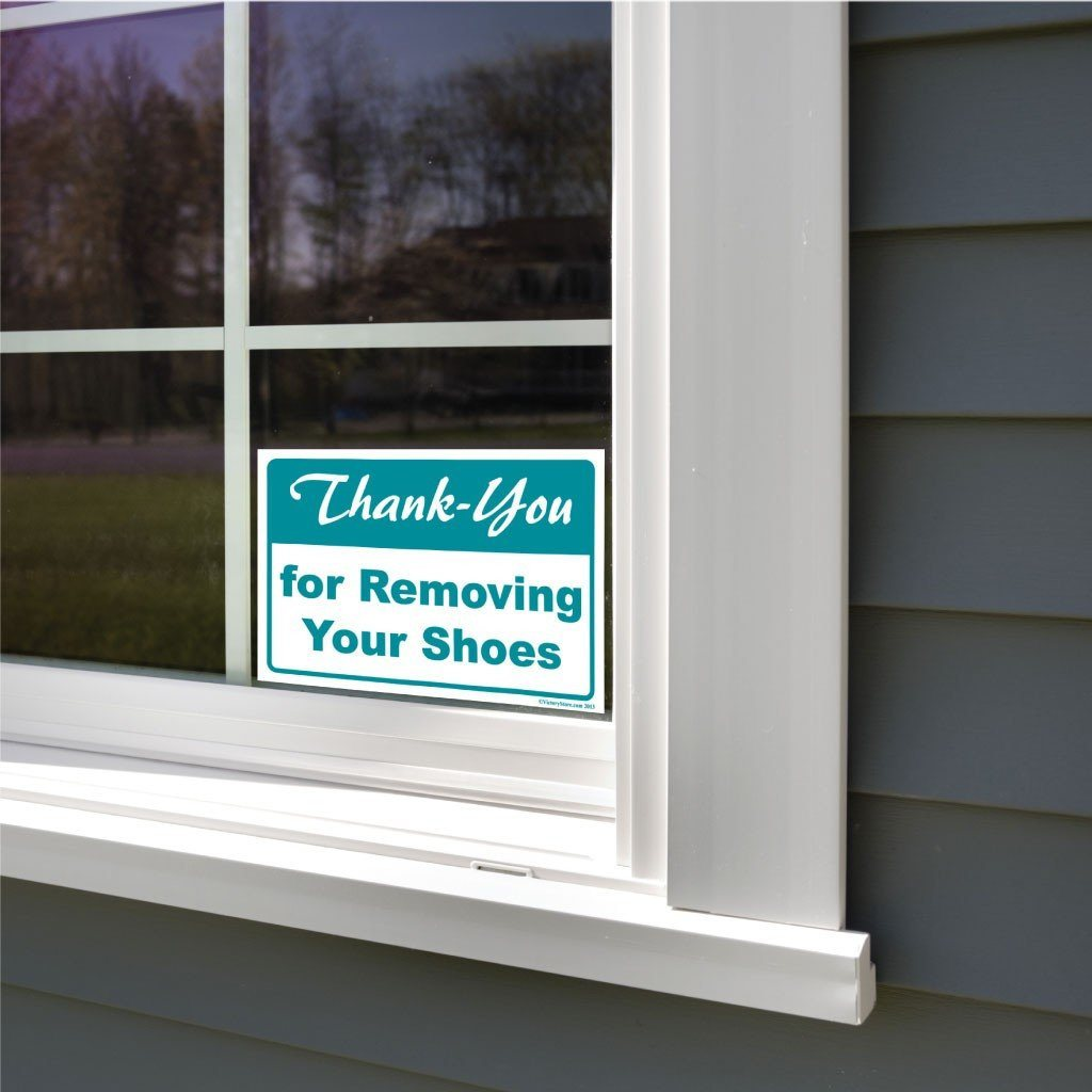 Thank You For Removing Your Shoes Sign or Sticker - #2