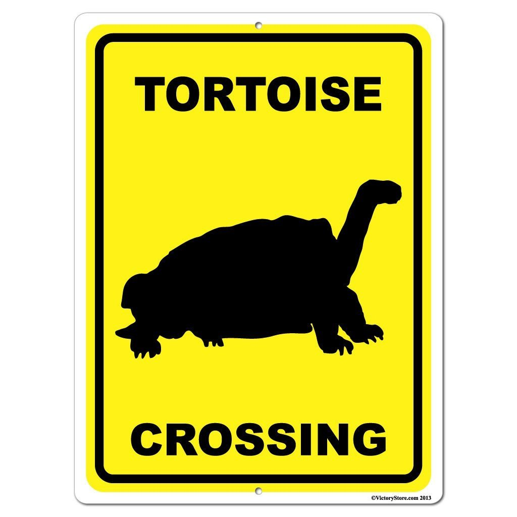 Tortoise Crossing Sign or Sticker