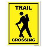 A trail crossing sign
