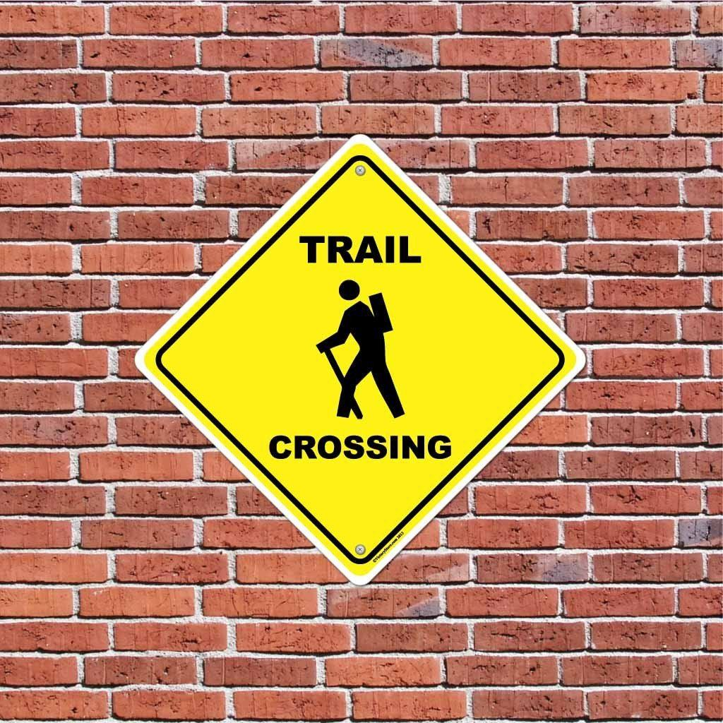 Trail Crossing Sign or Sticker