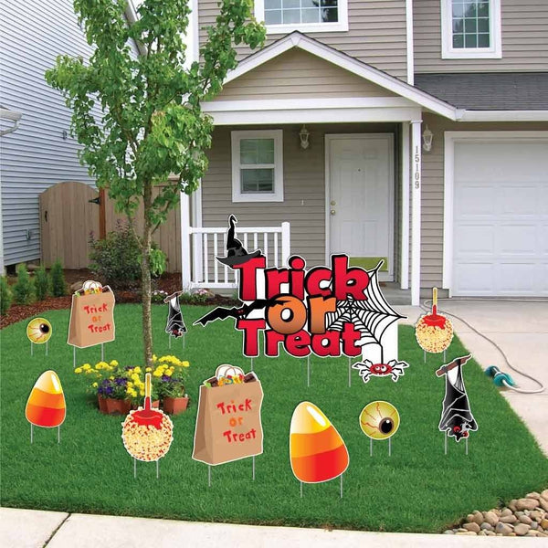 "Halloween Yard Decoration ""Trick or Treat"" with Tricks and Treats!"