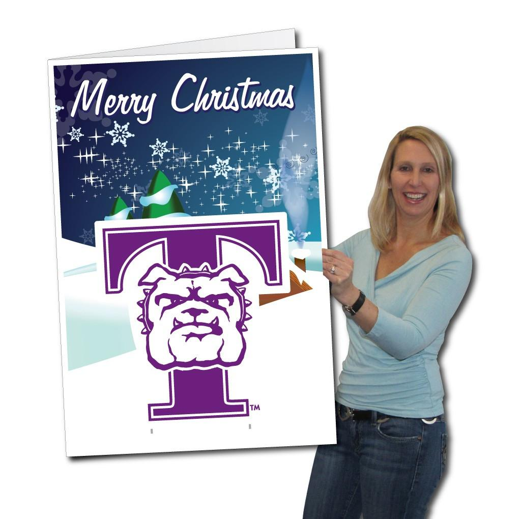 Truman State University 2x3 Giant Christmas Card Yard Sign