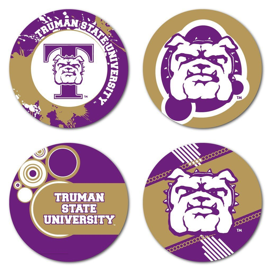 Truman State University Fun Designs Coaster Set of 4 - FREE SHIPPING