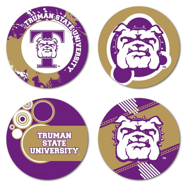 Truman State University Coaster Set - Fun Designs - Set of 4