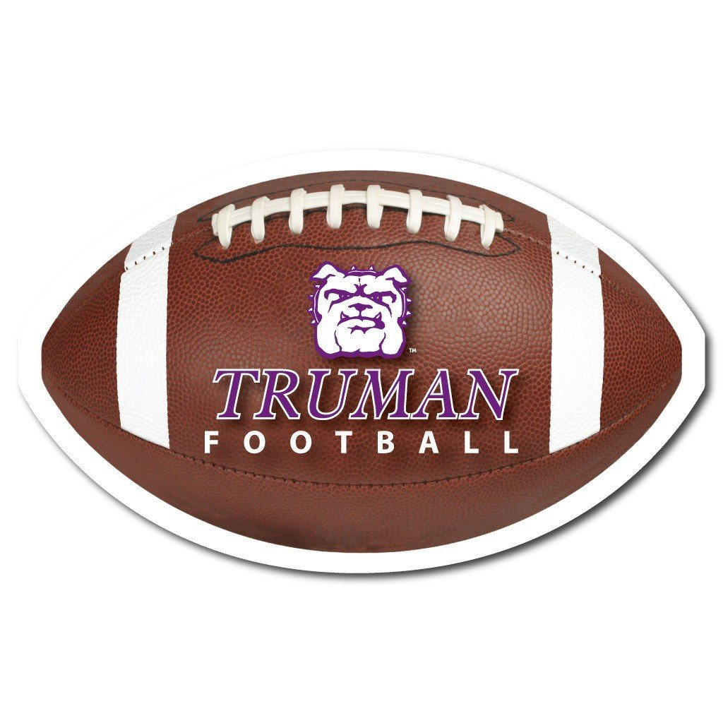Truman State University Football Shaped Plastic Yard Sign - FREE SHIPPING