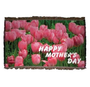 Tulip Mother's Day Woven Throw Blanket