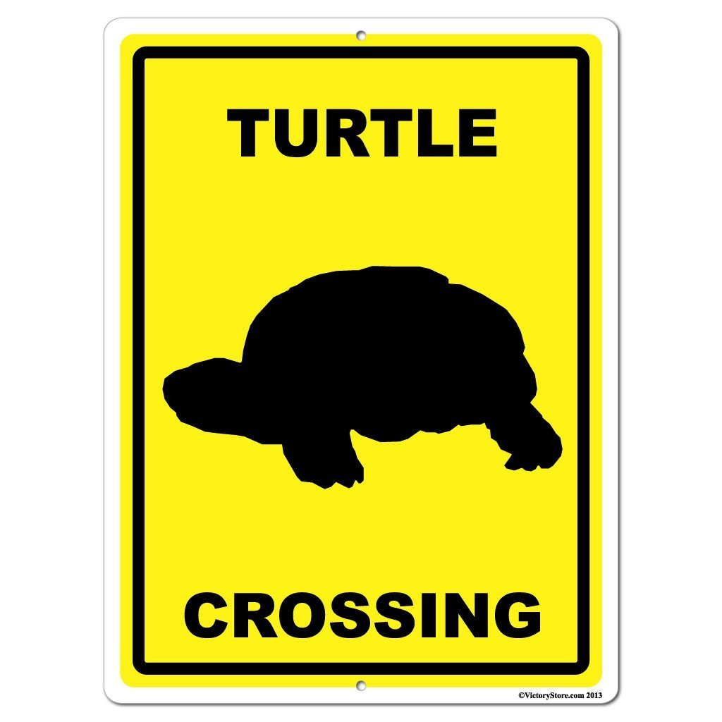 Turtle Crossing Sign or Sticker