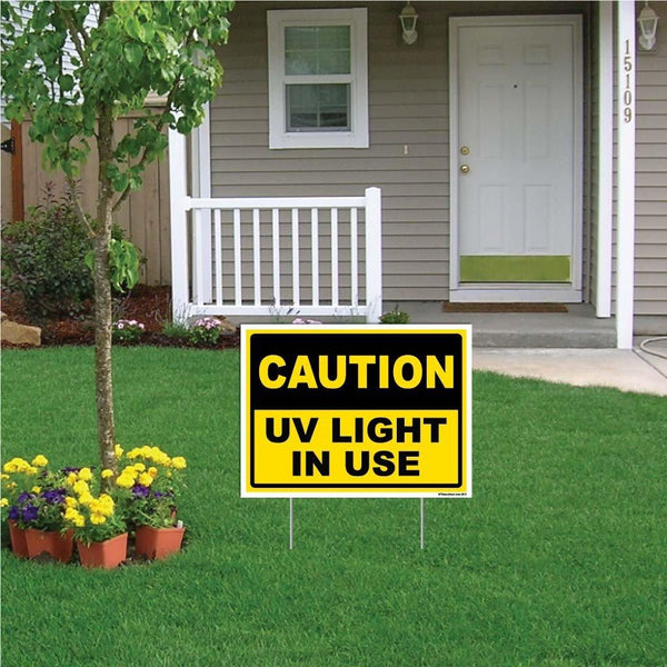 UV Light in Use Caution Sign or Sticker - #5