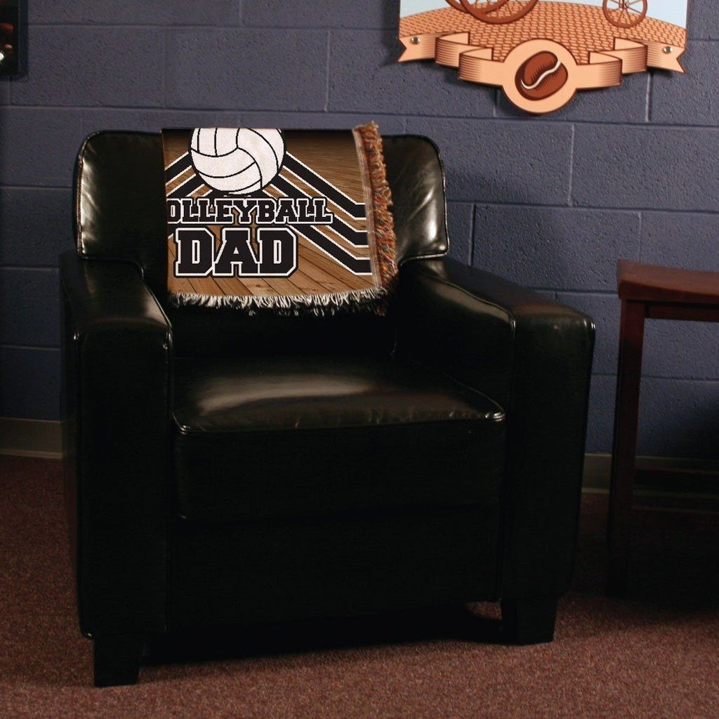 A personalized blanket on a chair