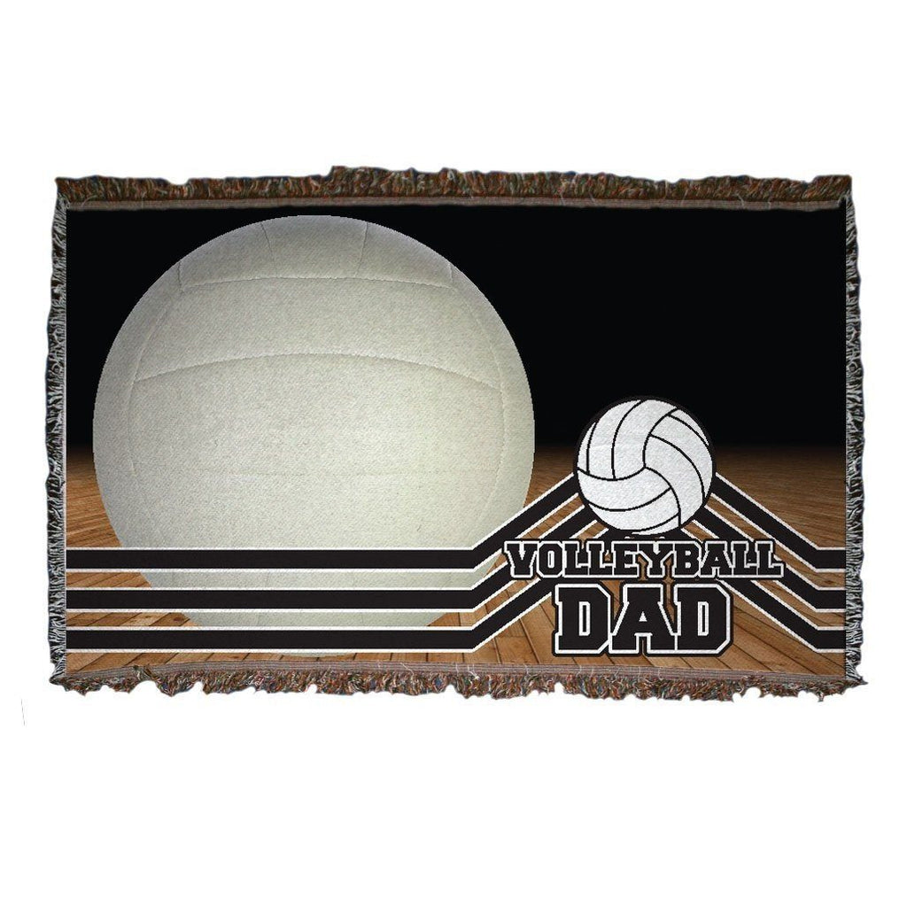 A volleyball themed throw blanket