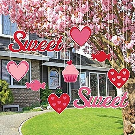 "Valentine's Lawn Decorations - Hanging - ""Sweet"" Valentine's Candy - FREE SHIPPING"