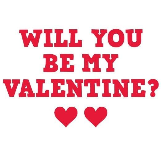 Will you be my Valentine? Yard Card w/23 short stakes