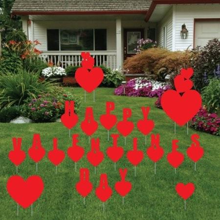 Valentine's Day Yard Decoration - Happy Valentine's Day Hearts - FREE SHIPPING