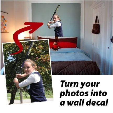 A wall decal