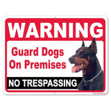 A 2D template for an attack dog sign