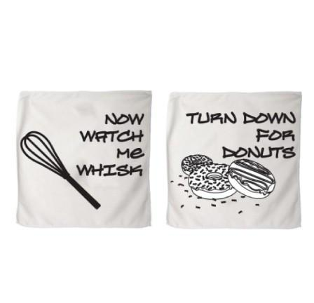 "Now Watch Me Whisk and ""Turn for Donuts"" Microfiber 11 X 18 Kitchen"