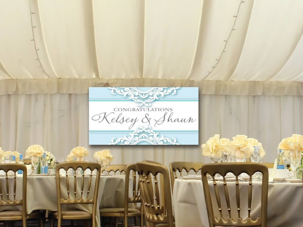 Wedding Banner - Elegant Lace Design